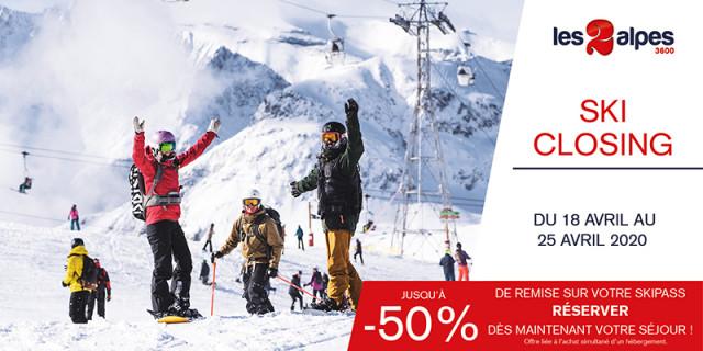 Ski Closing 18-25/04 : Skipass à -50%