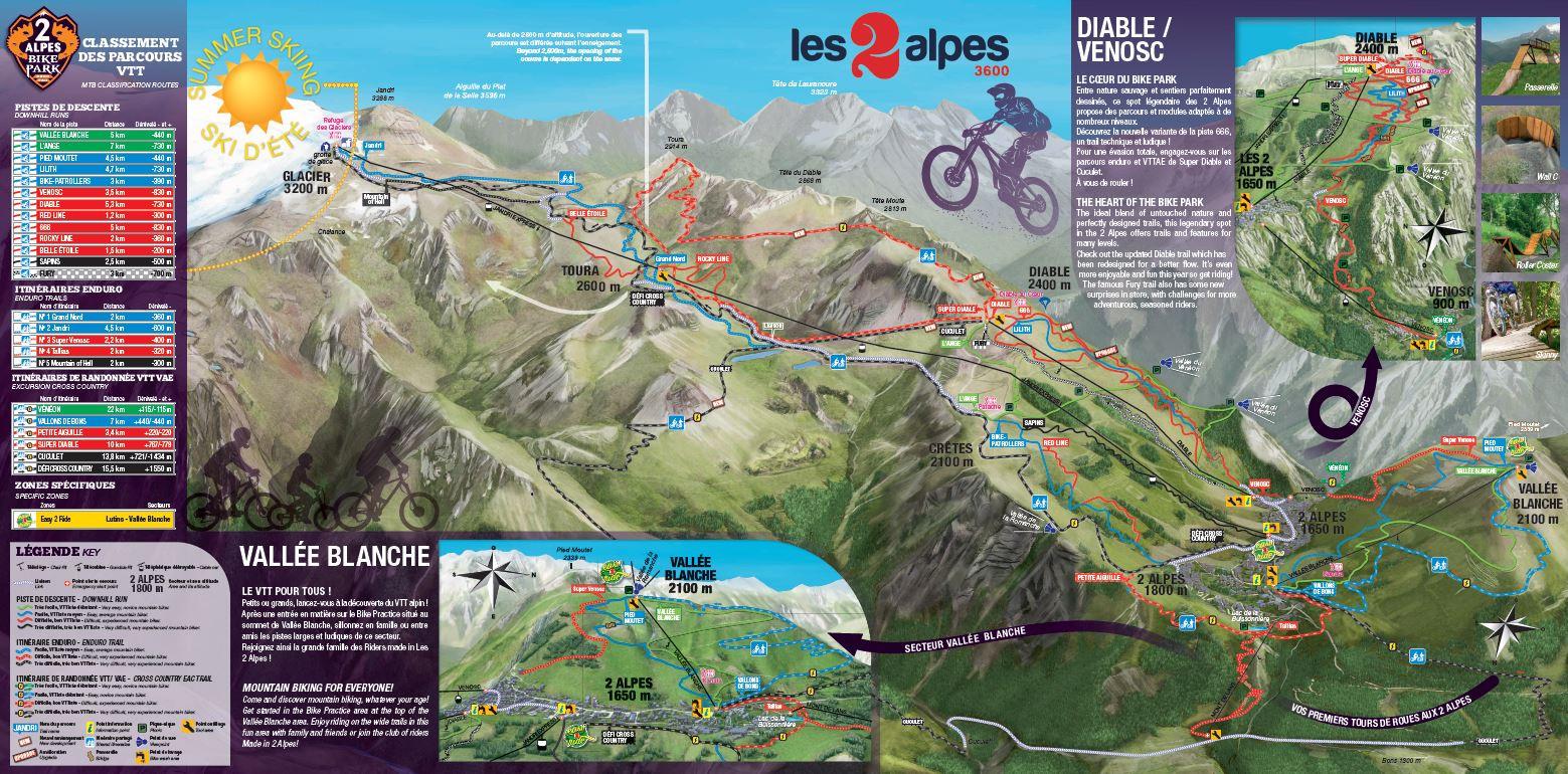 plan bike park Les 2 Alpes été 2021