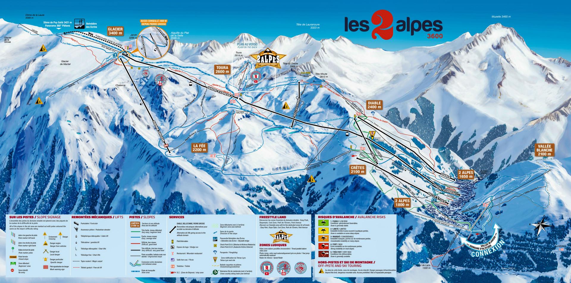Plan des Pistes - Les 2 Alpes