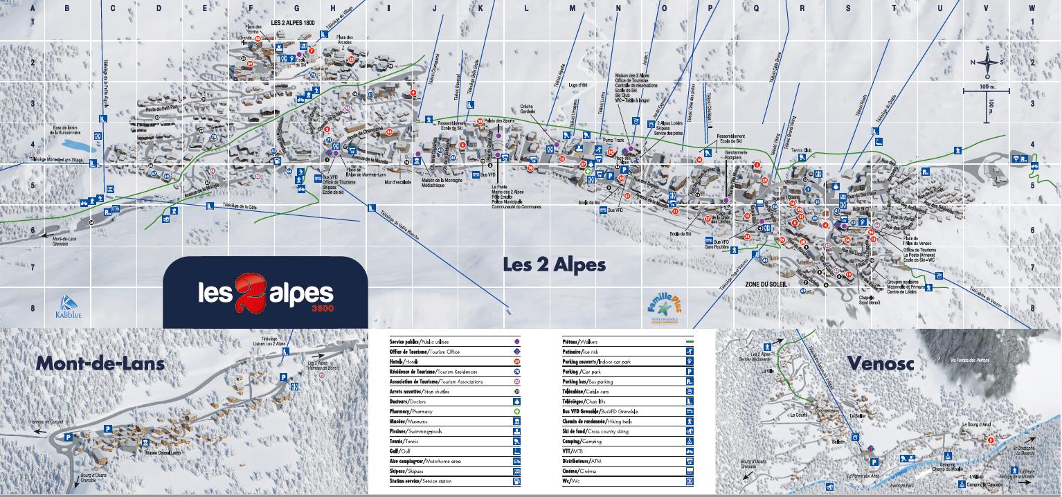 Les 2 Alpes resort map