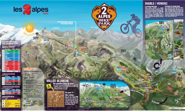 Ski run map 2 Alps all the ski maps for Les Deux Alpes