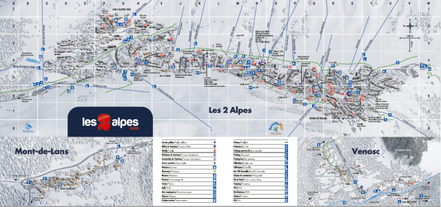 Les 2 Alpes resort map