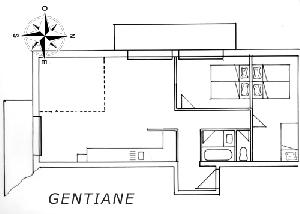 LES BALCONS DE SARENNE N° 2 GENTIANE Appartement 6 personnes