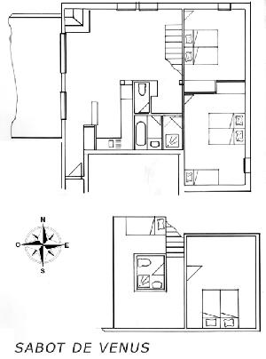 LES BALCONS DE SARENNE N° 4 SABOT DE VENUS Appartement 9 personnes