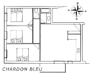 LES BALCONS DE SARENNE N° 5 CHARDON BLEU Appartement 6 personnes
