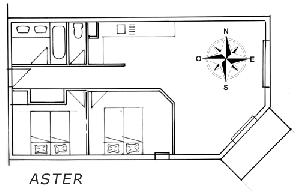 LES BALCONS DE SARENNE N° 8 ASTER Appartement 6 personnes