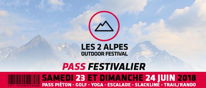 Les 2 Alpes Outdoor festival pass festivalier